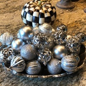 Beautiful silver non-breakable Christmas ornaments